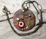 Iridized Copper Steampunk Mechanistic Pendant by Ironmountain01
