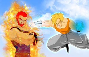 GOD OF DARKNESS vs WARRIOR OF LIGHT by ERIC-ARTS-inc