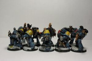 Space Wolves Grey Hunters by n3ont1g3r