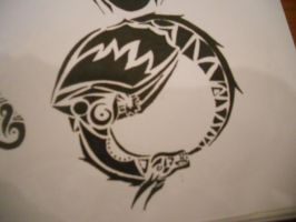 Tribal Ouroboros tattoo by mikaylamettler