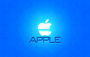 Apple Wallpaper BLUE by 1madhatter