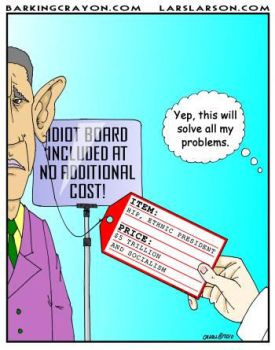 The Price of Obama Cartoon by Conservatoons
