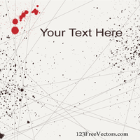 Vector Lines and Splatter Background Banner Design by 123freevectors