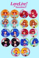 Love live sunshine straps by Nekkohime