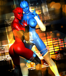 Asari Haily And Lysa T'Rana - Double Team by ExGemini