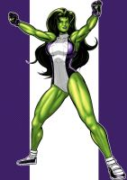 She Hulk Prestige series 2.0 commission by Thuddleston