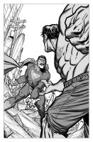 Hulk Vs Bizarro by angryrooster
