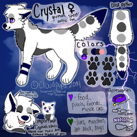 Crystal Feral Reference by Cloudpups