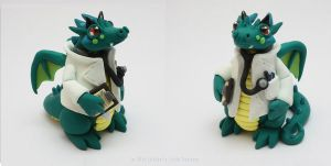 Dr. Agon - The Teal Doctor Dragon by LitefootsLilBestiary