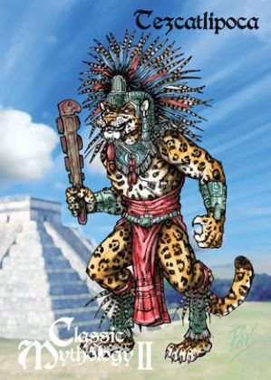 Tezcatlipoca Base Card Art - Terry Pavlet