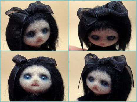 Needle felted Doll Miniature-collage picture by BethMiniWorld