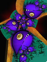Little Purple Piranhas by 21citrouilles
