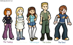 Teh Stream - Background Characters by DoubleLeggy