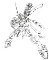 God Gundam 1 by WEREsandrock