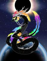True Soul:  Cosmic/Elemental/Spirit Dragon by ChaosBetween