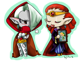 Ghirahim and Yuga by krystalfan-2