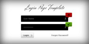 LOGIN PAGE TEMPLATE by FreePSDDownload