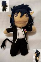 Blue exorcist Rin plushie by superjacqui