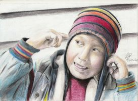 Colored pencil ''La La La'' by textmixer