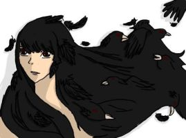 Raven Haired Girl by Lady-of-Ratatosk