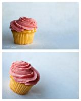 strawberry lemonade cupcakes by cmykchicago