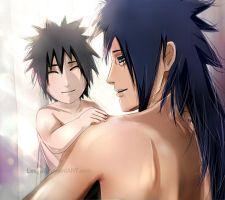 Madara with his son by Lesya7