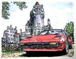 Ferrari 308 sketch 1 by ferrariartist