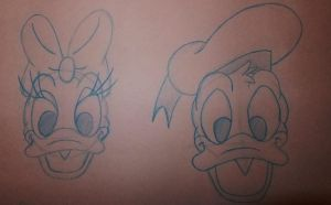 Donald and Daisy Duck Drawings by chloesmith8