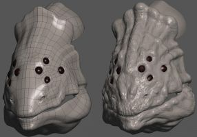 Creature Head Detail Test by The-3DArtist