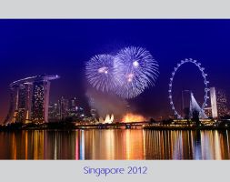Singapore Fireworks by Pandowo014