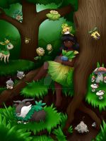 Pokemon in the Forest