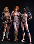 Red Sonja and friends by Vad-mig-orolig