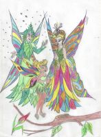 MOTHER EARTH AND TINKER BELL by Angels-Pixie-D