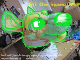 Oli hyena fursuit wip by Grion