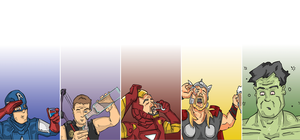 Avengers Drinking Challenge by narcolepsyinc