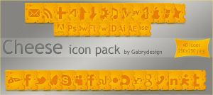 Cheese icon pack by Gabrydesign