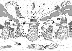 Dalek War by mikedaws