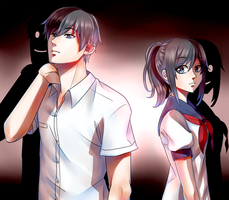 Yandere-chan and Yandere-kun by DarkEmbrace75