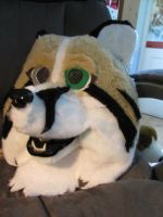 First Fursuit Head by Denniah
