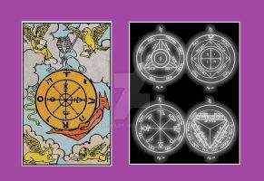 The Tarotcard the wheel of fortune and Seal of So. by Mikewildt