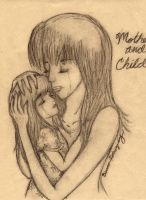 Mother and child by GG-lover