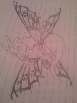 Butterfly Dragon. by Satans-Hand