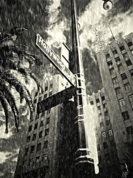 Hollywood and Vine by FreezeFrameIt