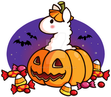 Happy Llamaween! by YamPuff