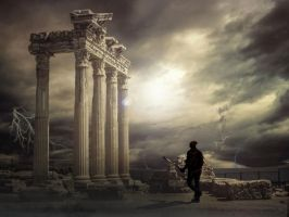 Apollo Temple Ruins Final by MartyRossArts
