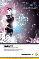 Investra female poster design by ronaldesign