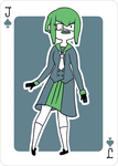 Adventure Time Style Midori - Jack of Spades by catiniata