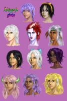 Aveyond Girls roster by AngelERenoir