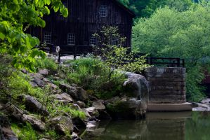 Mill and Stream In-Frame - Dam at Millside 2 by wetdryvac