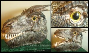 realistic dragon head by Hidden-Treasury